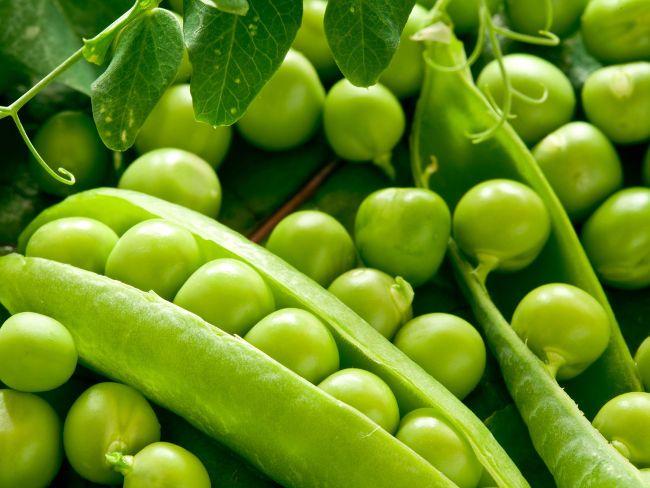 Які вітаміни представлені в горосі