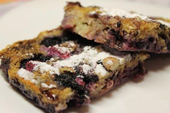 Вівсяний фітнес-пиріг з бананами і чорницею. Харчуйтеся правильно!