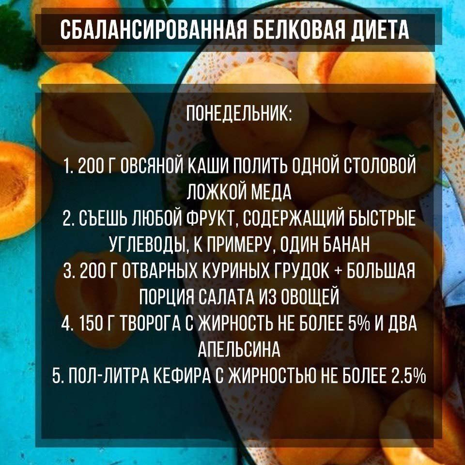 Приклад збалансованої білкової дієти