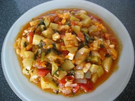 Рецепт овочевого рагу з кабачками