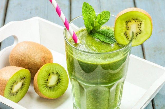 Жиросжигающий зелений коктейль з ківі